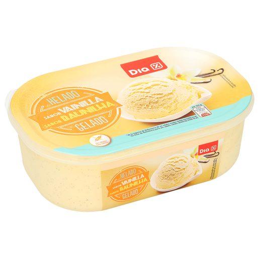 DIA helado de vainilla barqueta 550 gr