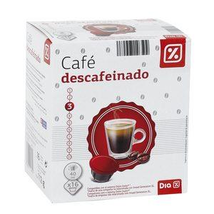 DIA café descafeinado 16 cápsulas caja 112 gr