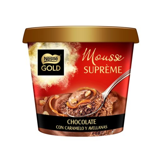 NESTLE mousse supreme chocolate con caramelo y avellanas tarrina 170 gr