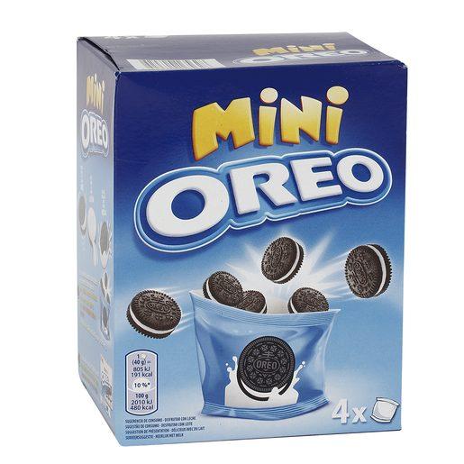 OREO mini galletas de chocolate rellenas de crema caja 160 gr