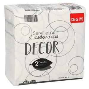 DIA servilletas decoradas 2 capas paquete 100 uds