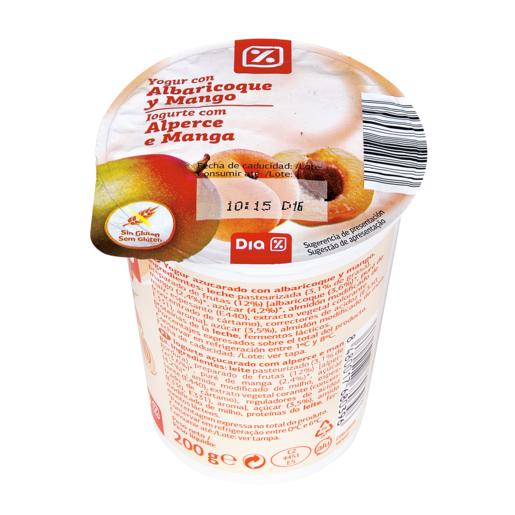 DIA yogur con albaricoque-mango envase 200 gr