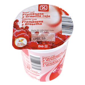 DIA yogur con frambuesa vaso 200 gr