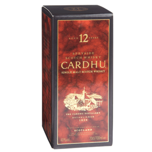 CARDHU whisky malta 12 años botella 70 cl