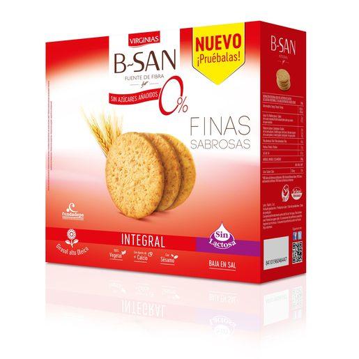 VIRGINIAS B-San galletas integrales sin lactosa caja 480 gr