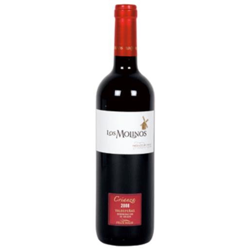 LOS MOLINOS vino tinto crianza DO Valdepeñas botella 75 cl