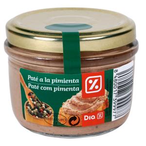 DIA paté a la pimienta tarro 125 gr
