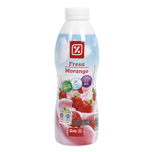 DIA yogur líquido fresa 0 % M.G. botella 750 ml