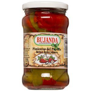 BUJANDA pimientos del piquillo rojos y verdes frasco 220 gr