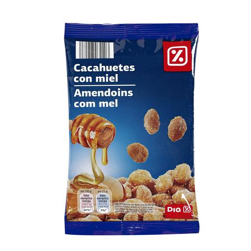 DIA cacahuetes c/miel bolsa 125G.