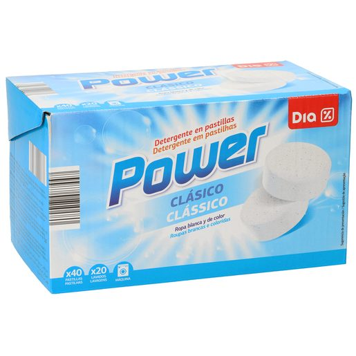 DIA detergente máquina clásico caja 40 pastillas