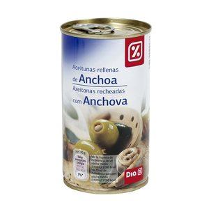 DIA aceituna rellena anchoa lata 150 gr
