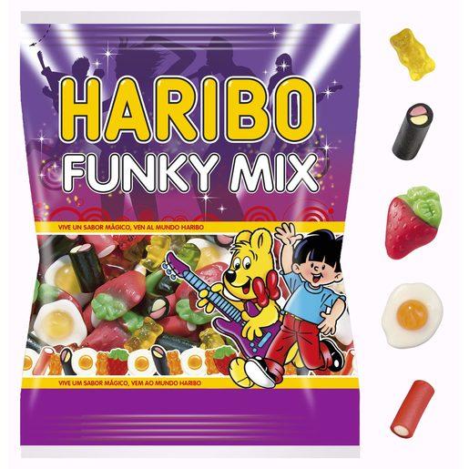 HARIBO golosinas surtidas funky mix bolsa 300 gr
