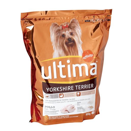 ULTIMA alimento para perros dog mini yorshire bolsa 800 gr