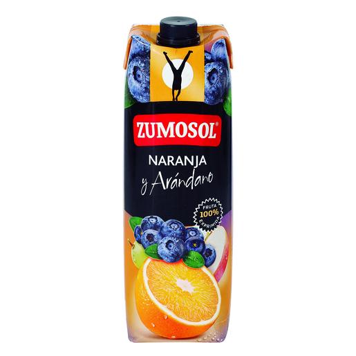 ZUMOSOL zumo de naranja y arándanos envase 1 lt