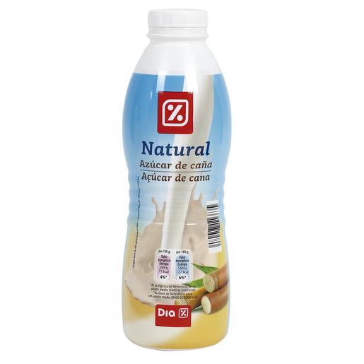 DIA yogur líquido natural con azúcar de caña botella 750 gr
