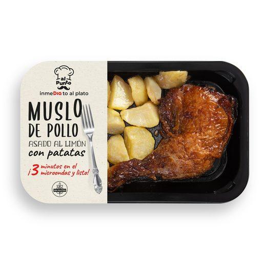 AL PUNTO muslo de pollo asado al limón con patatas bandeja 330 gr