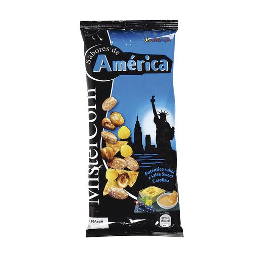 GREFUSA Mister corn sabores de américa cocktail frutos secos bolsa 97 gr