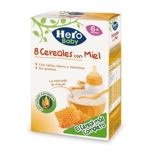 HERO Baby papilla 8 cereales con miel caja 600 gr