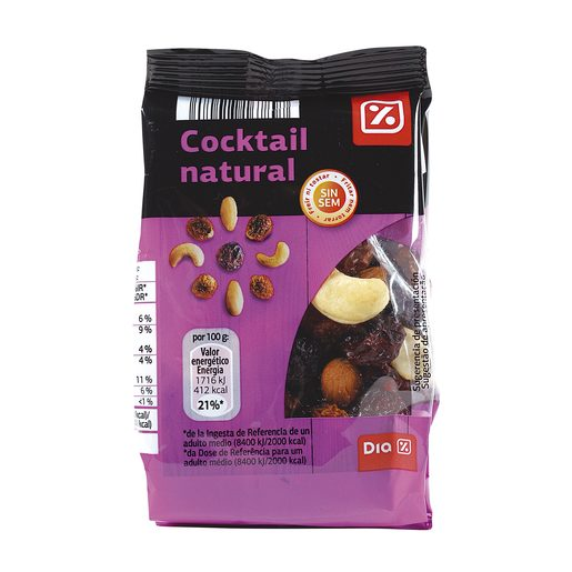 DIA cocktail natural frutos secos bolsa 125 gr