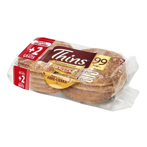 THINS pan para sandwich 8 cereales bolsa 310 gr