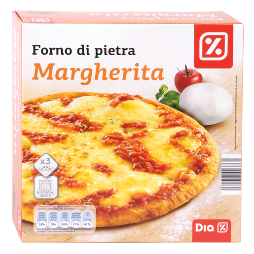 DIA pizza margarita pack 3x300 gr