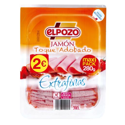 ELPOZO jamón toque adobado lonchas extrafinas sobre 280 gr