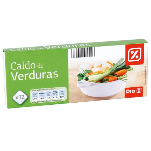 DIA caldo de verduras estuche 12 pastillas