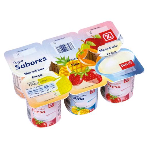 DIA yogur sabores panache pack 6 unidades 125 g