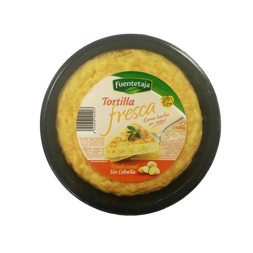 FUENTETAJA tortilla fresca sin cebolla envase 600 gr