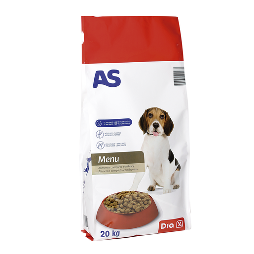 AS alimento para perros carne bolsa 20 kg