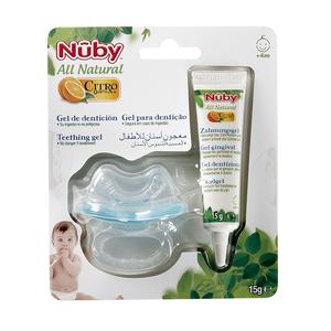 NUBY All natural gel de dentición + mordedor blíster 1 ud