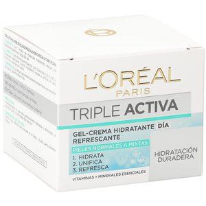 L'OREAL Triple activa gel crema de día hidratante refrescante tarro 50 ml
