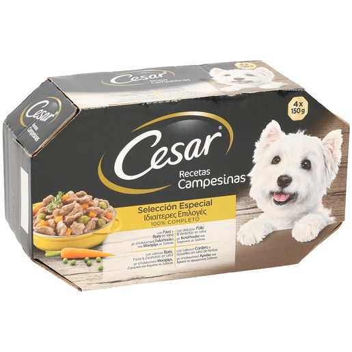 CESAR Selección especial alimento para perros completo multipack 4 x 150 gr