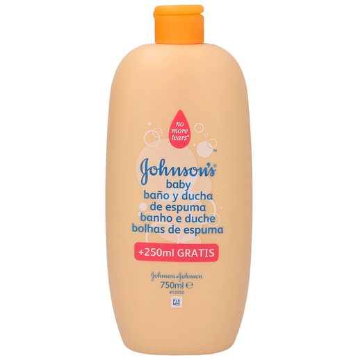 JOHNSON gel baño niños botella 500+ 250 ml