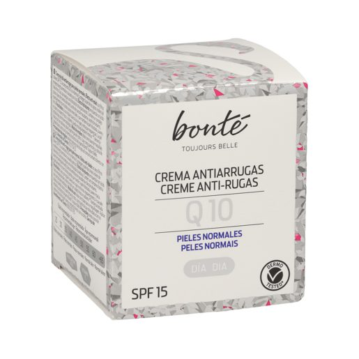 BONTE crema facial de día Q10 antiarrugas piel normal tarro 50 ml