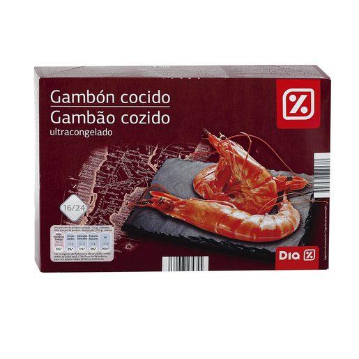 DIA gambón cocido 16/24 piezas caja 800 gr