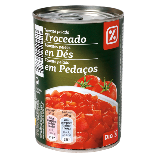 DIA tomate troceado lata 400GR