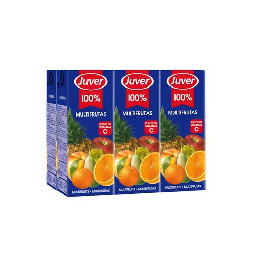 JUVER zumo multifrutas pack 6 unidades 200 ml