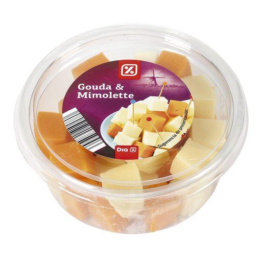 DIA dados de queso gouda y mimolette tarrina 150 gr