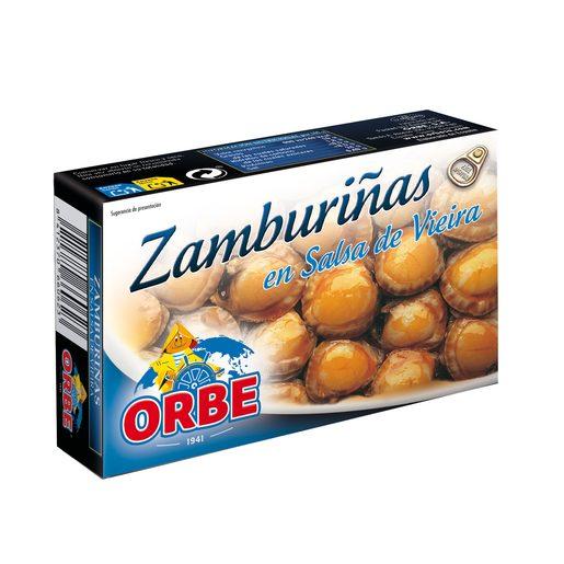 ORBE zamburiñas en salsa de vieira lata 63 gr