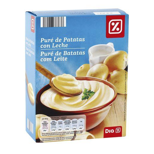 DIA puré de patatas con leche caja 375 gr