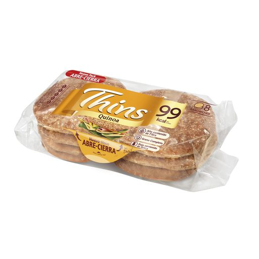 BIMBO SILUETA Thins pan para sandwich quinoa bolsa 310 gr