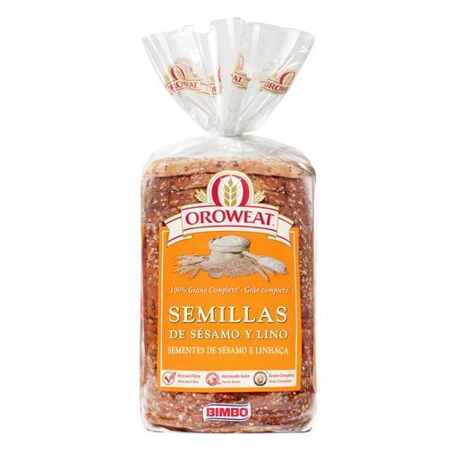 OROWEAT pan de molde semillas de sésamo y lino bolsa 680 gr