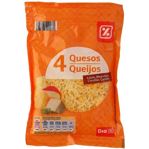 DIA queso rallado mezcla 4 quesos bolsa 200 gr