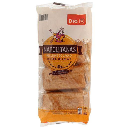 DIA napolitana rellena de chocolate paquete 320 gr