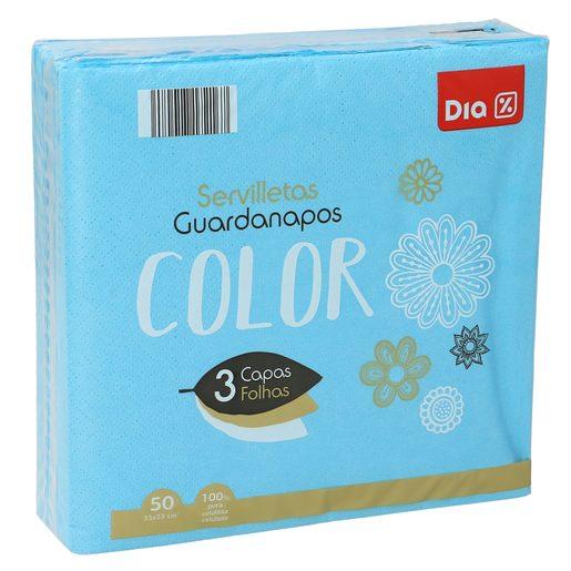 DIA servilletas azules 3 capas 33x33 cm paquete 50 uds