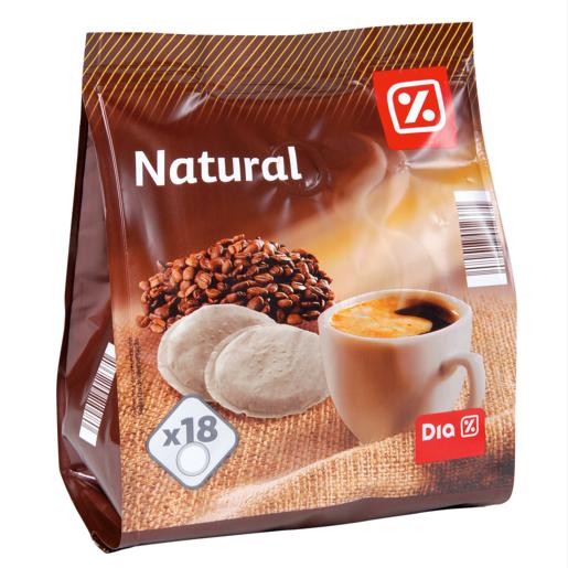 DIA café natural monodosis tipo senseo estuche 126 gr