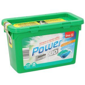 DIA detergente máquina doble acción en cápsulas 18 uds