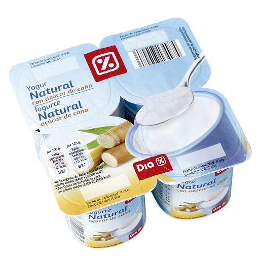 DIA yogur con azúcar pack 4 unidades 125 gr